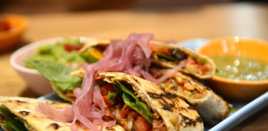 Quesadilla grilled tortilla filled with cheese