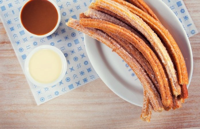Churro fried dough pastry