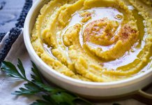 Fava Greek yellow split pea puree