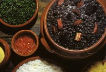 Feijoada black bean stew