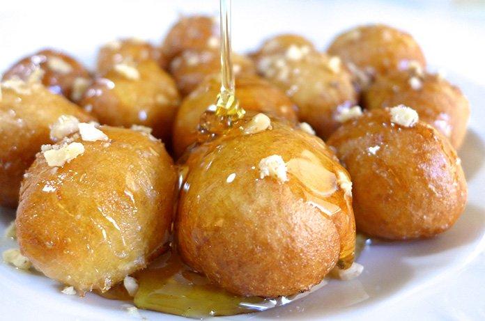 Loukoumades honey doughnuts