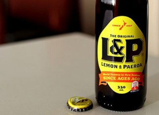 L&P Lemon Paeroa soft drink