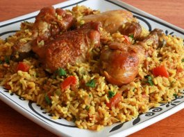 Machboos Emirati rice and meat dish