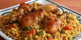 Machboos Emirati rice and meat dish