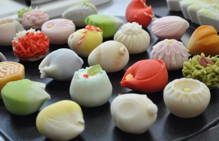 Namagashi traditional Japanese sweet