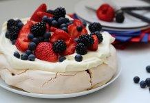 Pavlova meringue-based dessert
