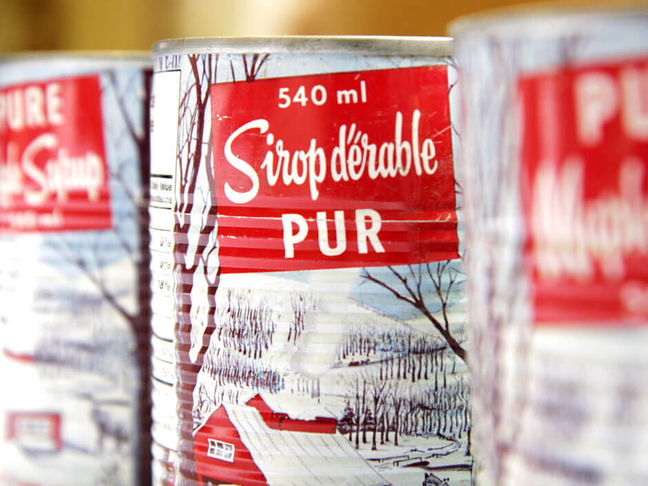 Canned maple syrup from Quebec 540ml