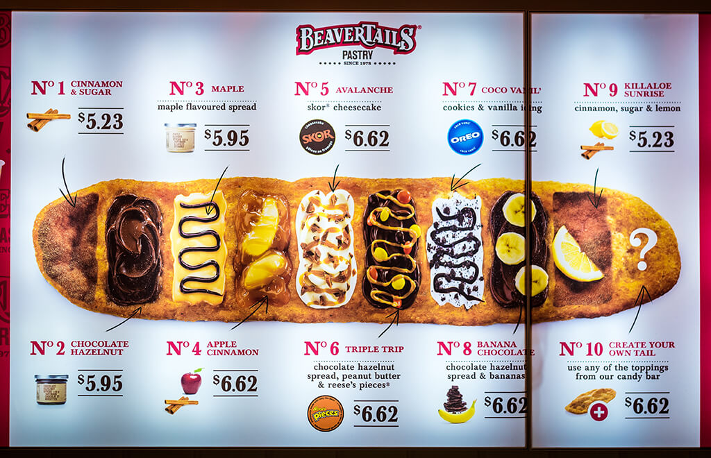 Queues de Castor BeaverTails Flavors
