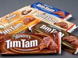 Tim Tam chocolate biscuit