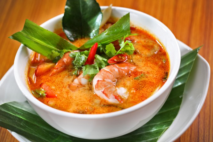 Tom Yum sour Thai soup