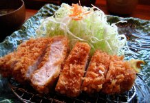 tonkatsu deep fried pork cutlet